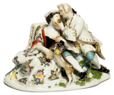 A MEISSEN GROUP OF GALLANT AND