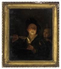 Young man eating porridge