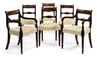 A SET OF SIX REGENCY DINING CH