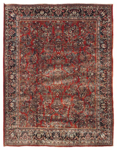 A FINE SAROUK CARPET, WEST PER