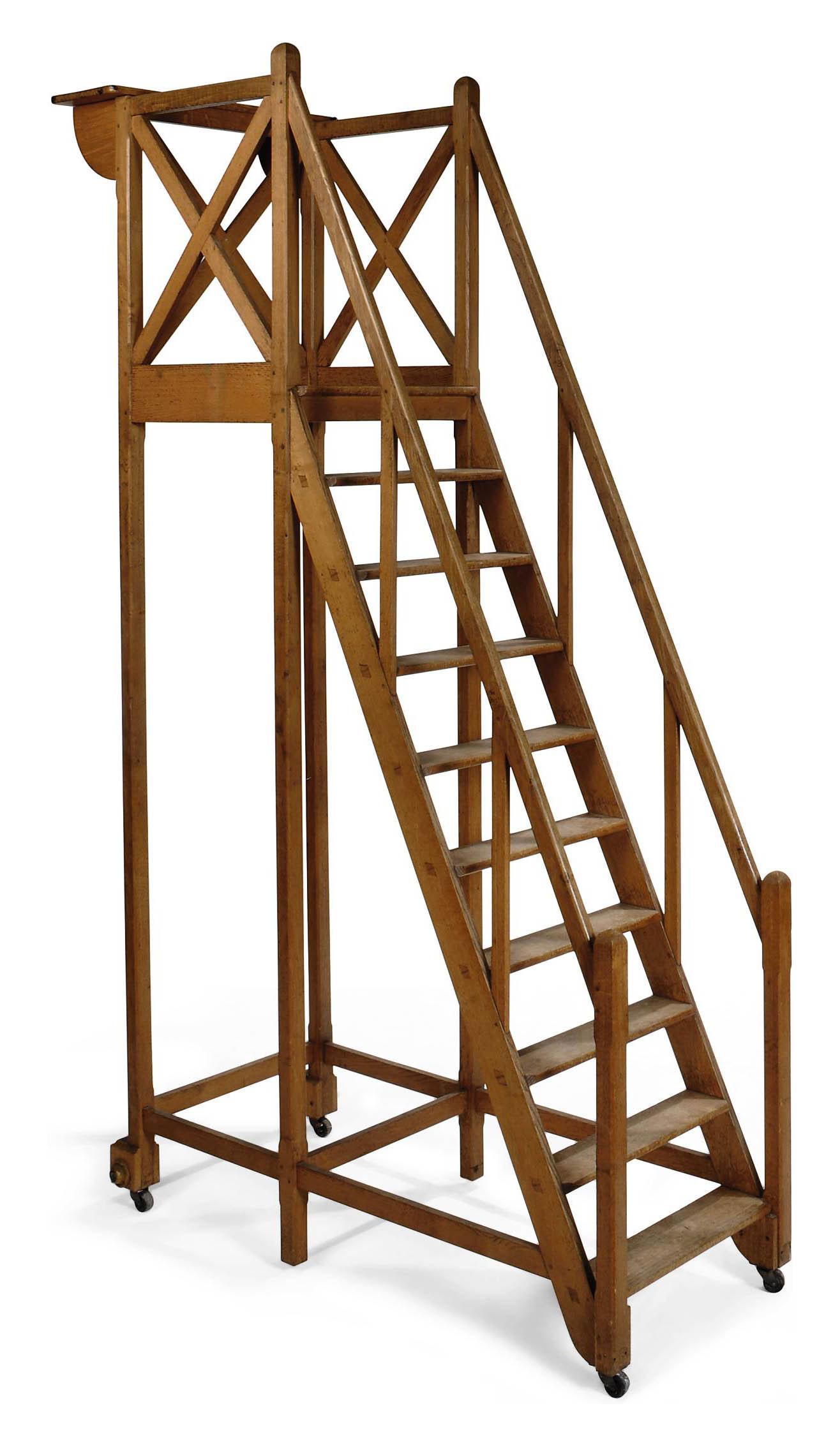 A FRENCH OAK STAIRCASE