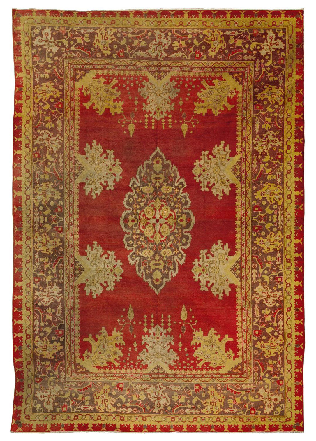 AN UNUSUAL AMRITZAR CARPET, NO