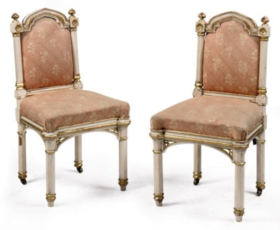 A PAIR OF EARLY VICTORIAN SIDE