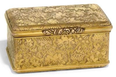 A GOLD SNUFF BOX