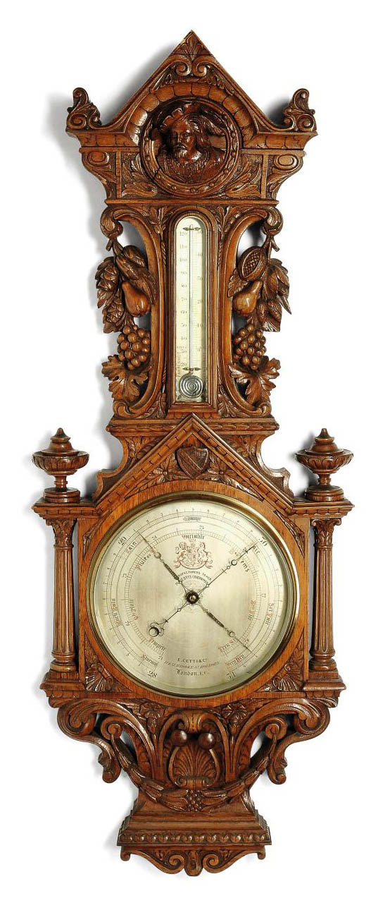 A VICTORIAN LARGE CARVED OAK W