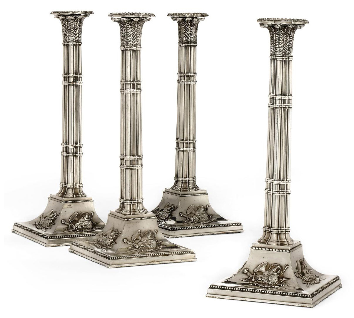 A SET OF FOUR OLD SHEFFIELD PL