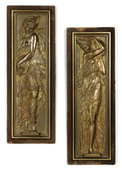 A PAIR OF FRENCH GILT-BRONZE R