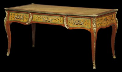 A FRENCH GILT-METAL MOUNTED FL