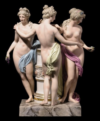 A MEISSEN GROUP OF THE THREE G