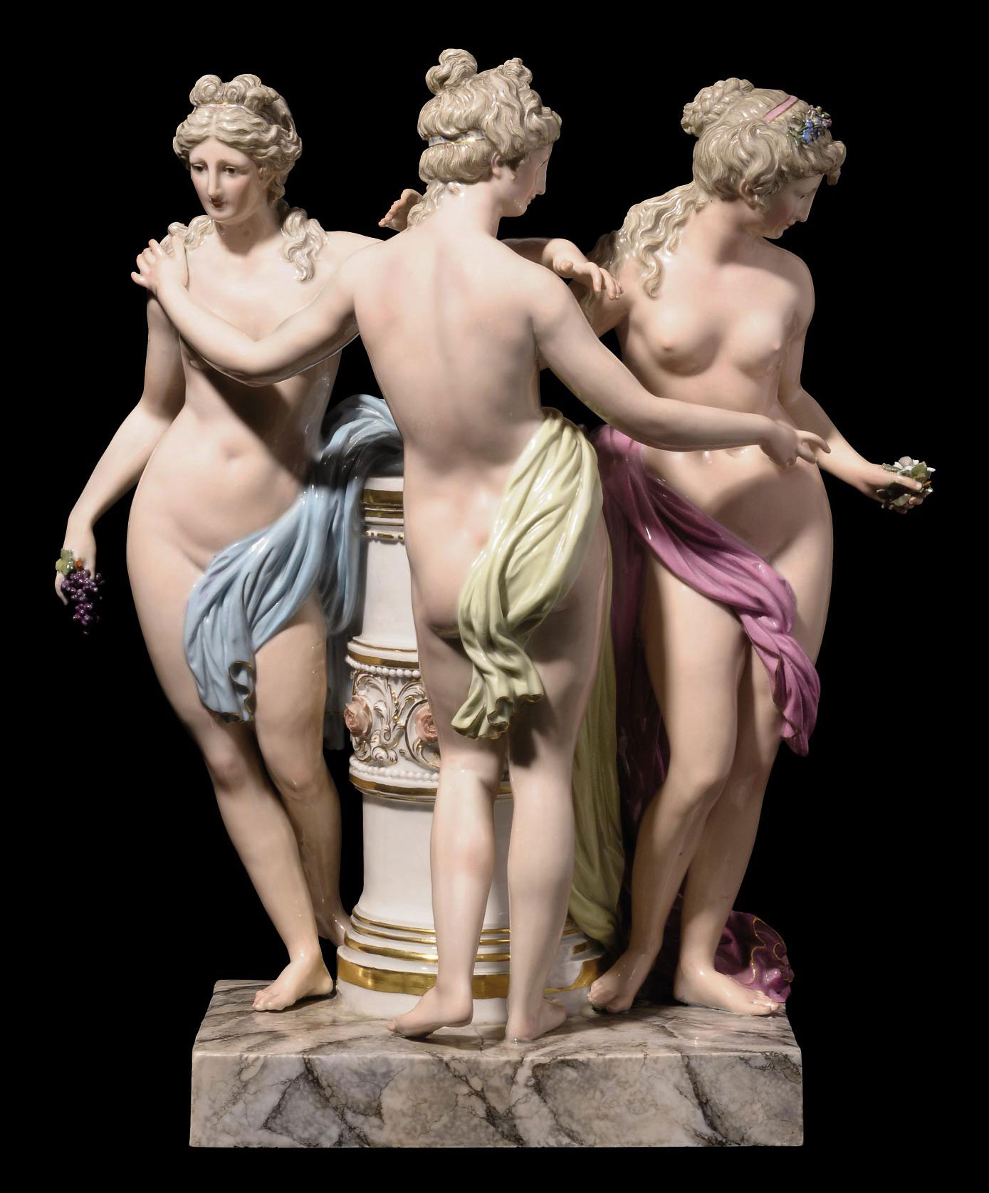 A MEISSEN GROUP OF THE THREE GRACES