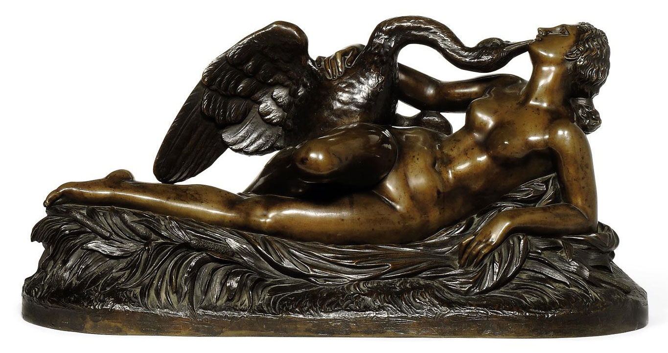 A FRENCH BRONZE MODEL OF LEDA AND THE SWAN