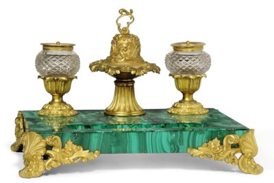 A FRENCH GILT-BRONZE MOUNTED M