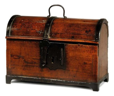 A FRENCH FRUITWOOD AND IRON BA