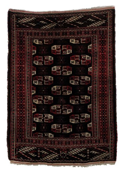 A TURKMAN TRIBAL RUG