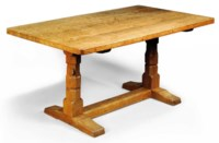 A ROBERT 'MOUSEMAN' THOMPSON OAK TABLE