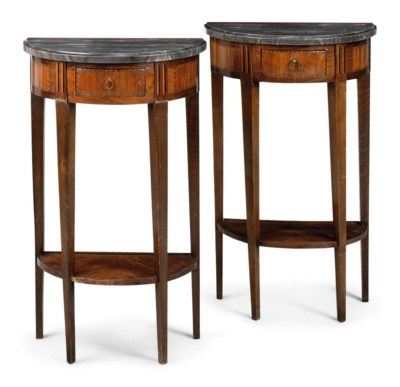 A PAIR OF TULIPWOOD, BEECH AND