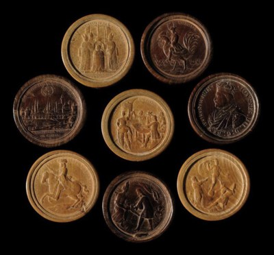 A SET OF THIRTY GERMAN RELIEF-