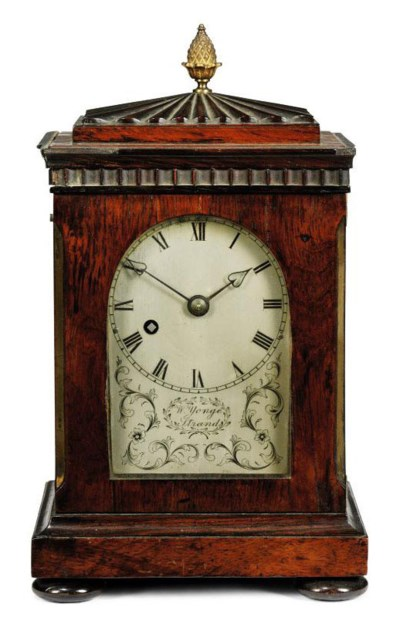 A WILLIAM IV ROSEWOOD AND BRAS