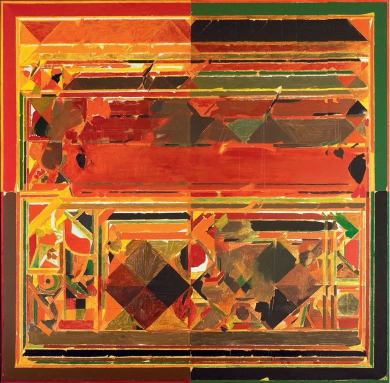 Syed Haider Raza (b. 1922), Saurashtra, 1983. 78¾ x 78¾  in (200 x 200  cm). Artwork © The Raza Foundation. All rights reserved. DACS 2020. Sold for £2,393,250 on 10 June 2010 at Christie's in South Kensington