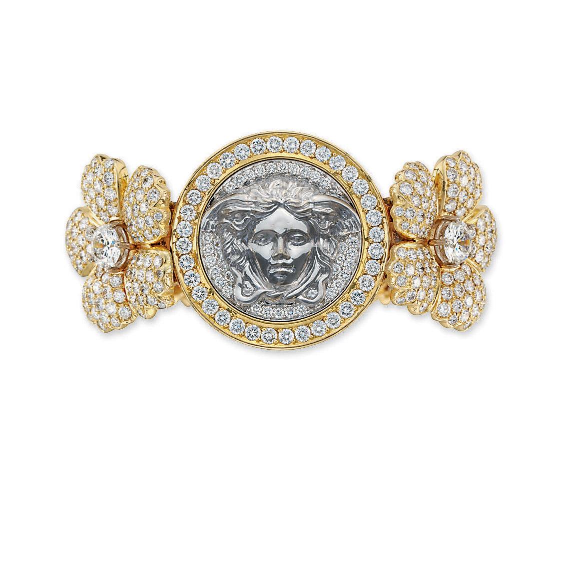 A DIAMOND CUFF, BY VERSACE