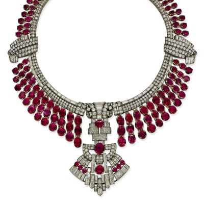 AN IMPRESSIVE ART DECO RUBY AN