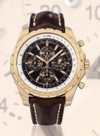 BREITLING, BREITLING FOR BENTLEY - MULLINER  PINK GOLD AUTOMATIC PERPETUAL CALENDAR CHRONOGRAPH WRISTWATCH WITH MOON PHASE DISPLAY, LIMITED EDITION OF 100
