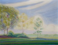 Traumlandschaft mit Baumgruppe, 1906