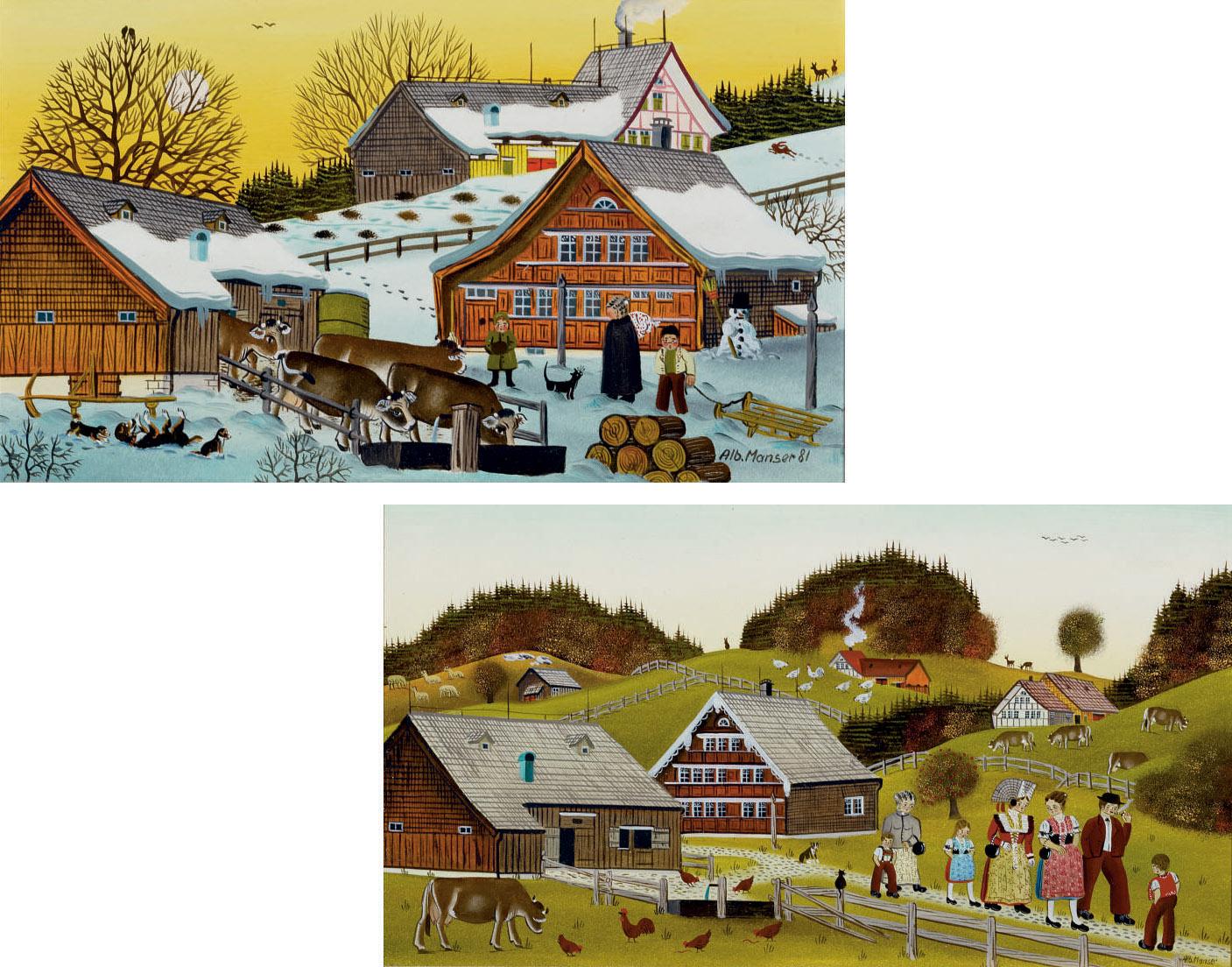 Sammelnummer von zwei Werken: Viehtränke, 1981  Hochzeit