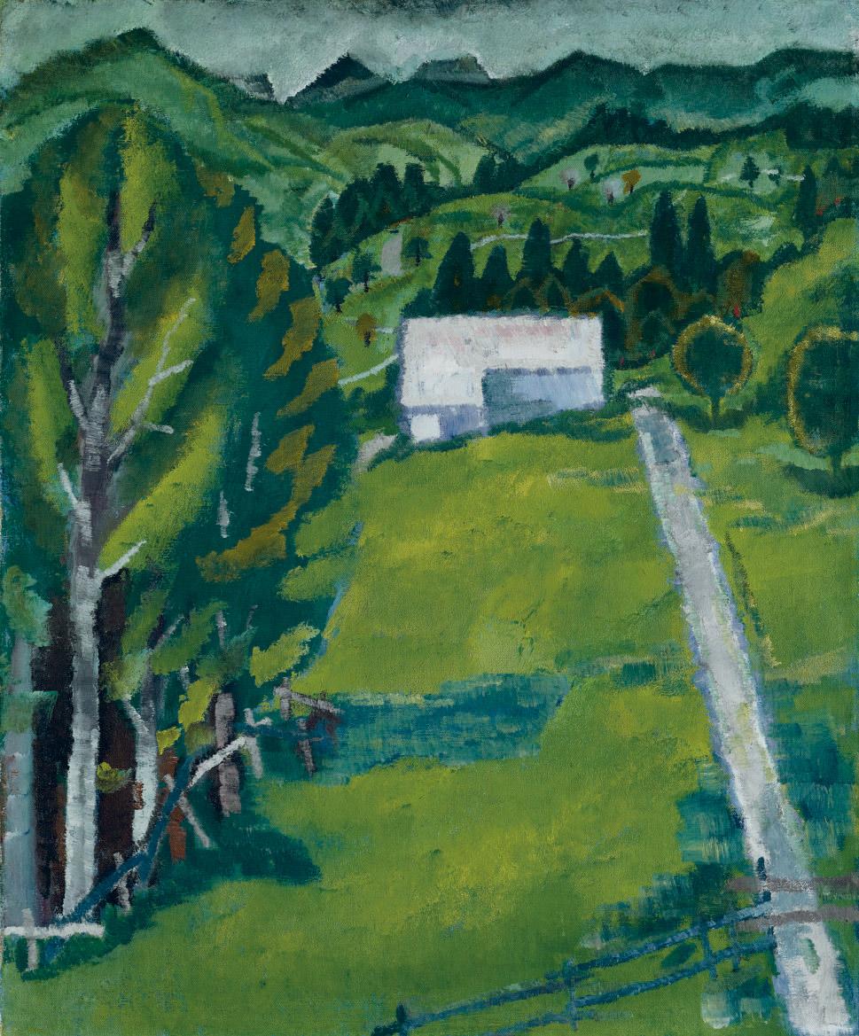 Toggenburger Landschaft mit Gaden II, 1909