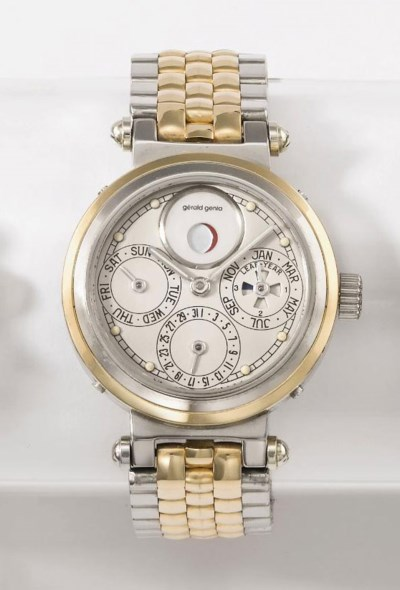 Gerald Genta. An 18K white and