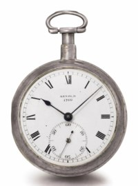 Arnold. A fine silver openface pocket chronometer