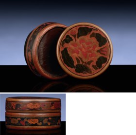 AN EXTREMELY RARE TIANQI LACQUER CIRCULAR BOX AND COVER