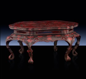 A TIANQI LACQUER LOW TABLE