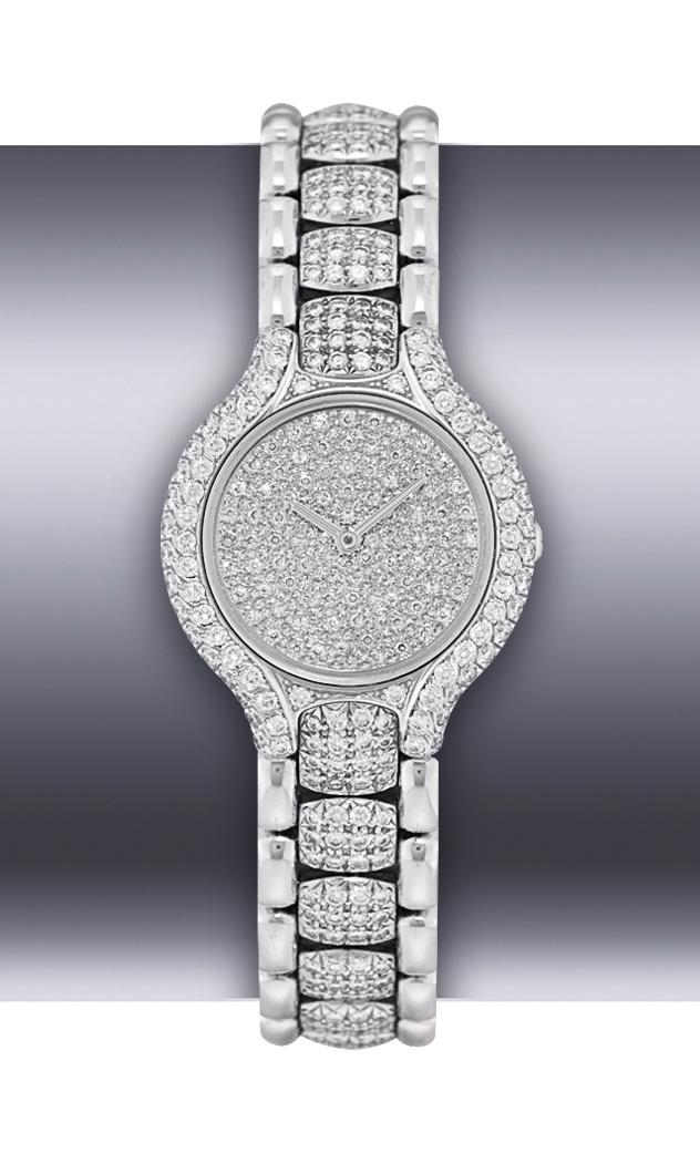 EBEL, BELUGA  LADY'S WHITE GOLD AND DIAMOND-SET QUARTZ BRACELET WATCH