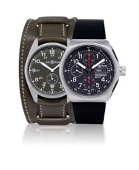 BELL & ROSS  SET OF TWO STAINLESS STEEL AUTOMATIC WRISTWATCHES