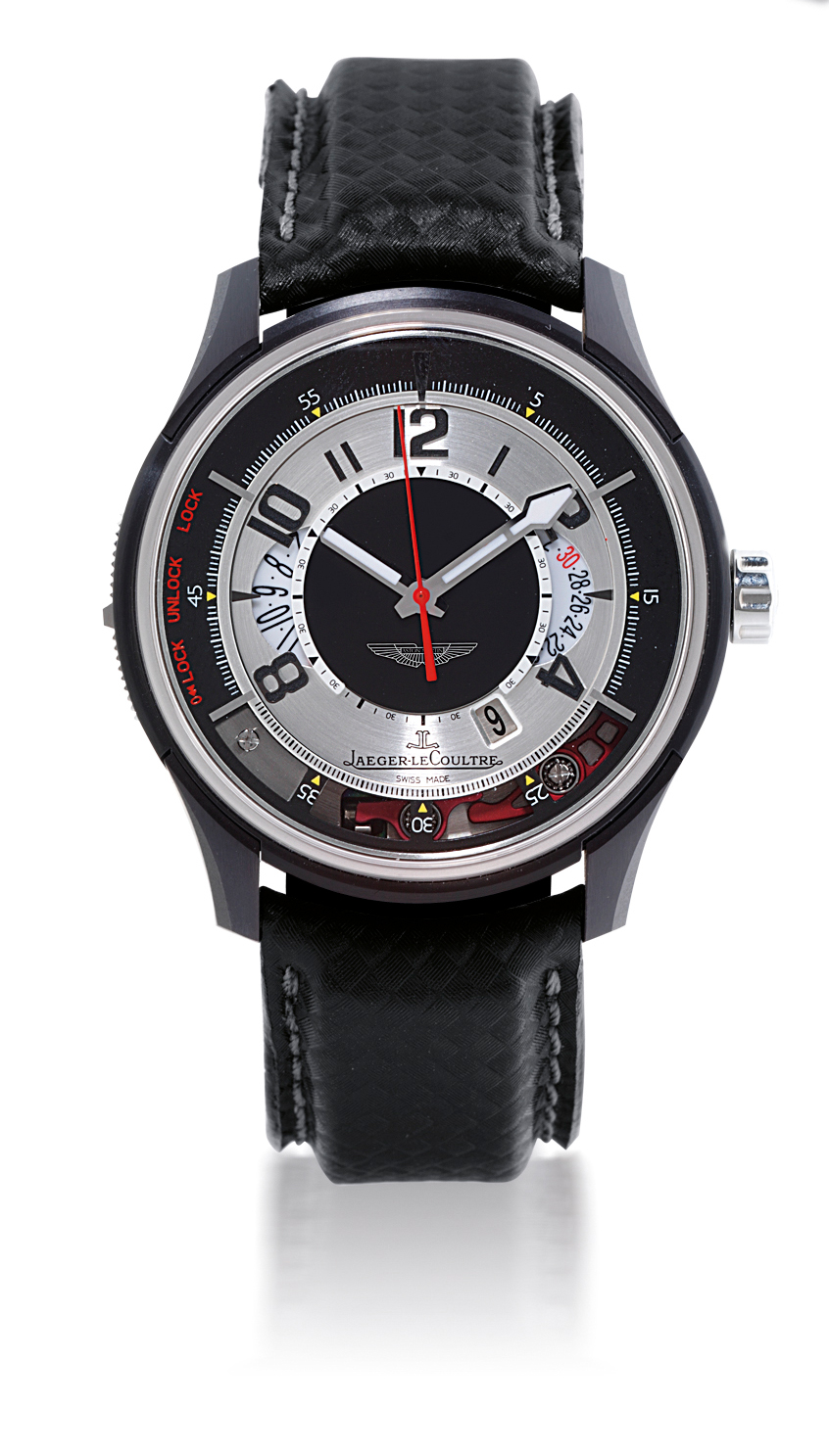 JAEGER-LECOULTRE, ASTON MARTIN AMVOX2  TITANIUM AUTOMATIC VERTICAL TRIGGER CHRONOGRAPH WRISTWATCH WITH DATE DISPLAY, LIMITED EDITION OF 500