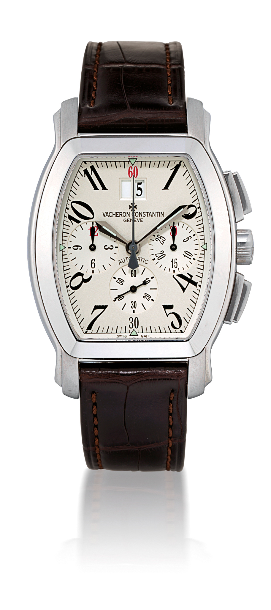 VACHERON CONSTANTIN, ROYAL EAGLE  STAINLESS STEEL AUTOMATIC CHRONOGRAPH WRISTWATCH WITH DATE DISPLAY