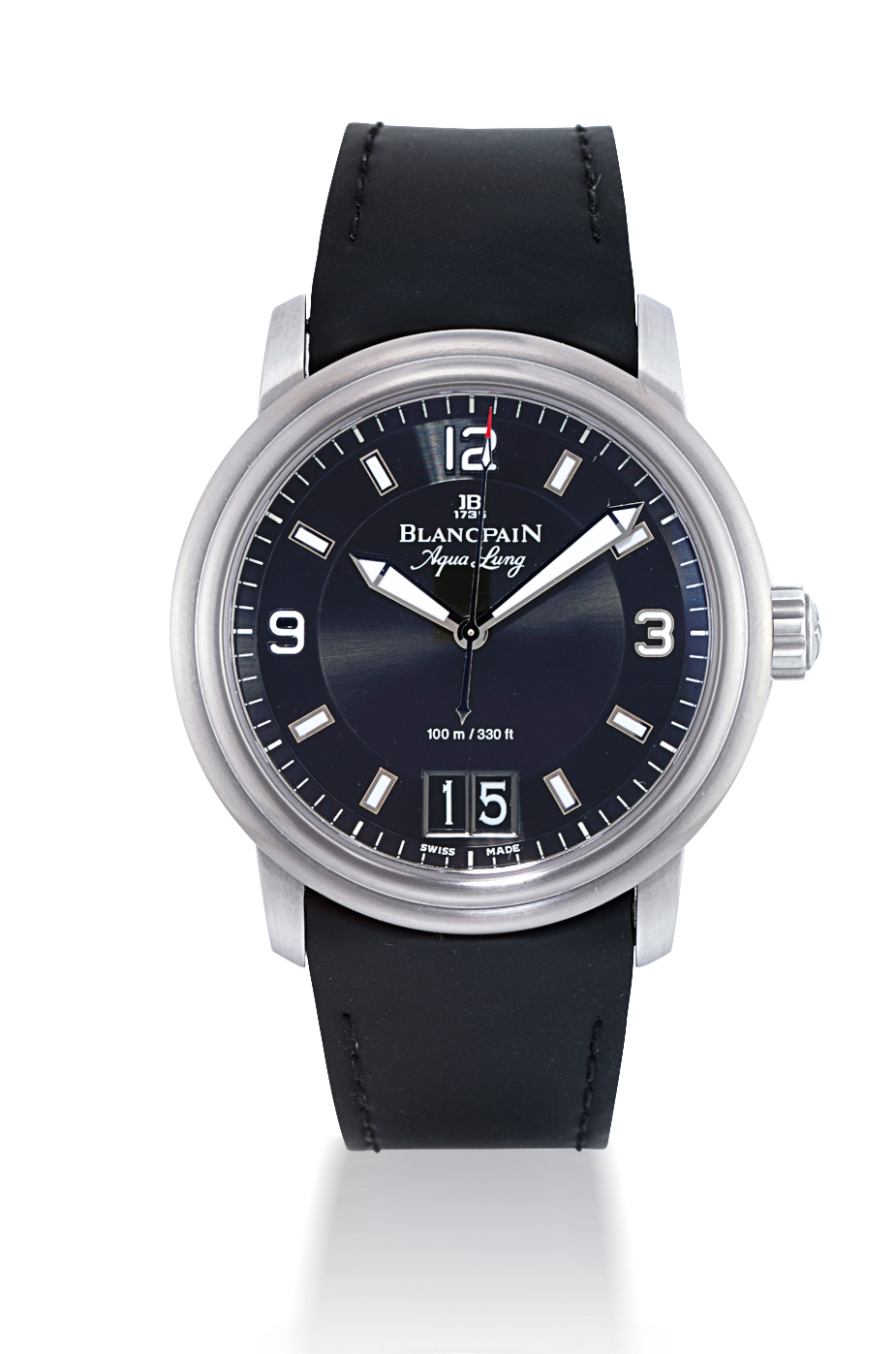 BLANCPAIN, LEMAN - AQUA LUNG  STAINLESS STEEL AUTOMATIC WRISTWATCH WITH DATE DISPLAY, LIMITED EDITION OF 2005