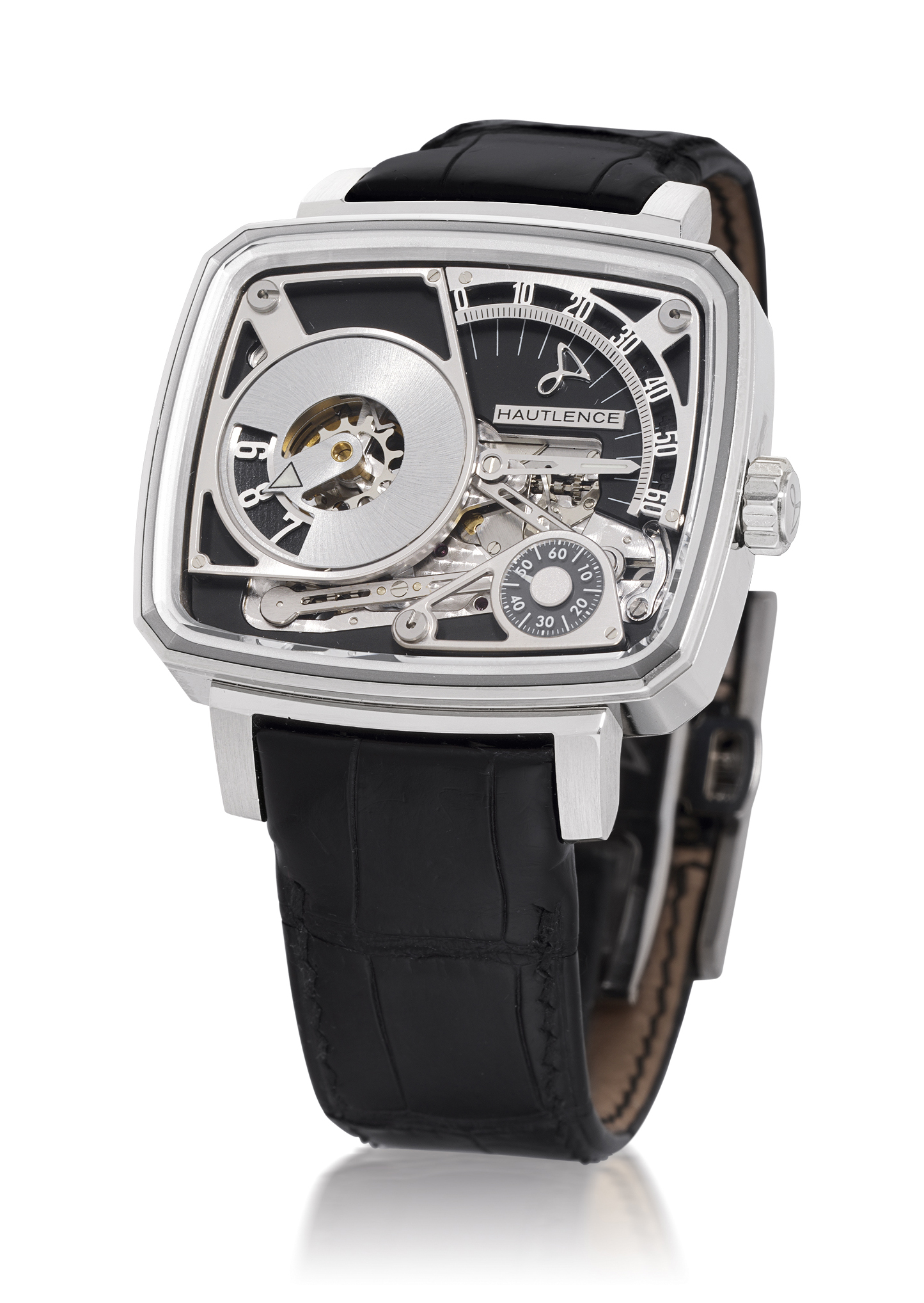 HAUTLENCE, HL08  WHITE GOLD MANUALLY-WOUND WRISTWATCH WITH RETROGRADE MINUTES DISPLAY, LIMITED EDITION OF 88