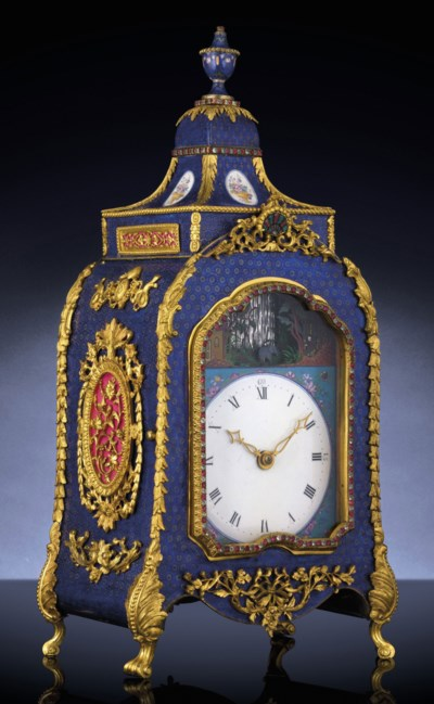 An Imperial Canton Enamel Ormolu Mounted Glass Inset Chiming Mechanical Clock Christie S