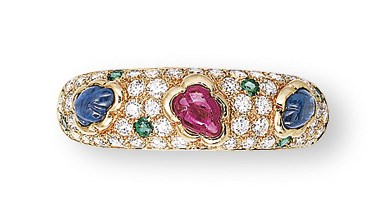 A MULTI-GEM RING, BY CARTIER
