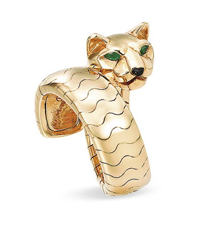 An Emerald And Gold Panth 200 Re Ring By Cartier Christie S