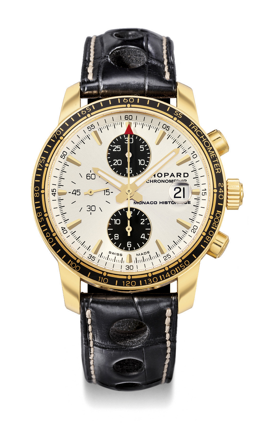 chopard ref 1275 grand prix de monaco historique yellow gold automatic chronograph wristwatch. Black Bedroom Furniture Sets. Home Design Ideas