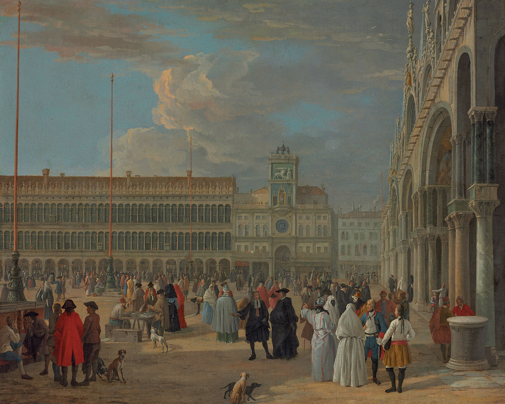 View of Piazza San Marco with the Torre dell'Orologio, Venice