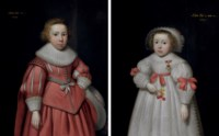 Portrait of a young boy; and Portrait of a young girl