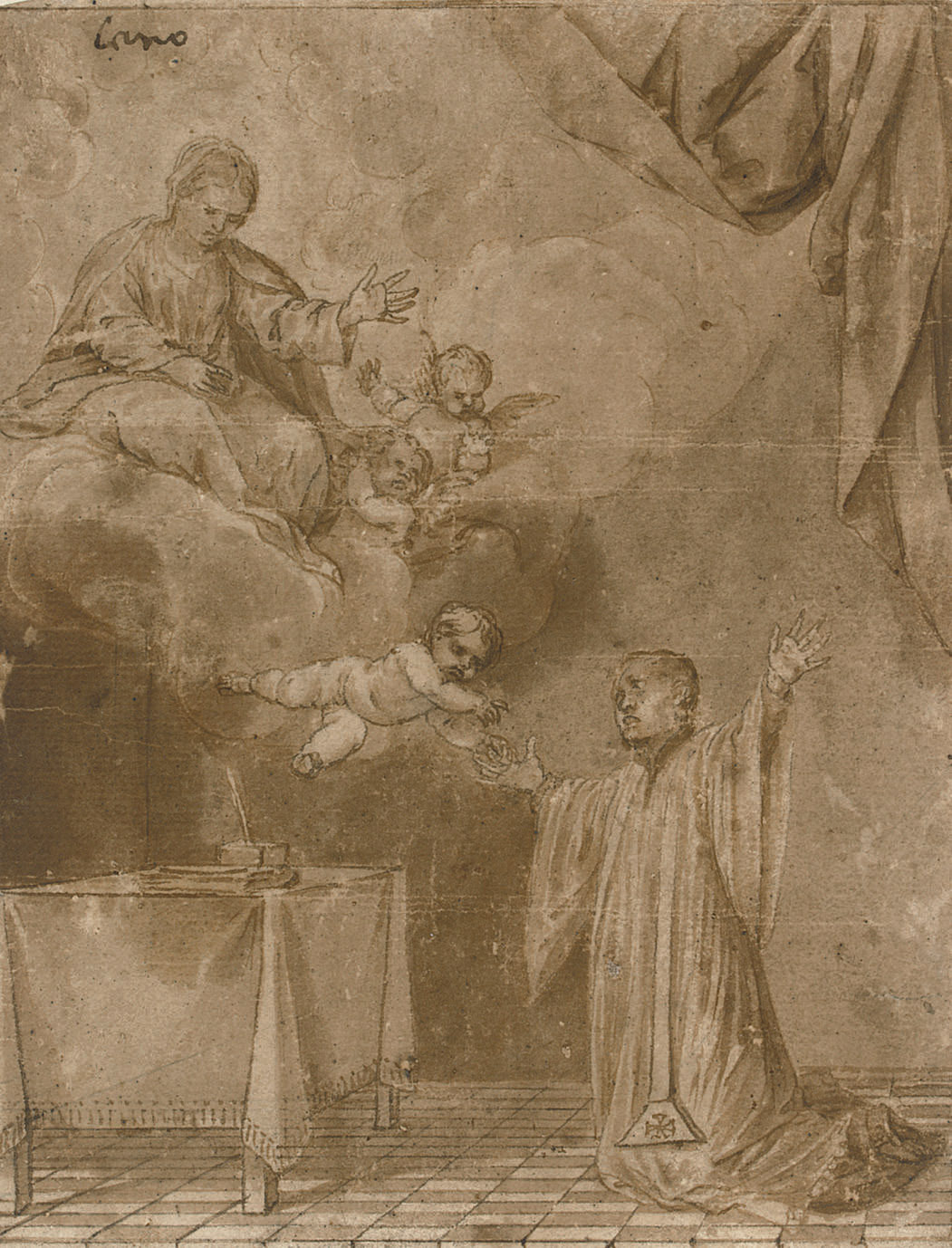 The Christ Child appearing to Saint Simon Stock