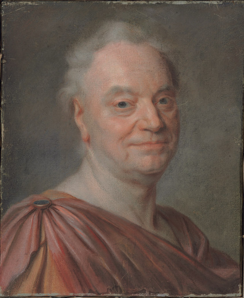 Portrait of Prosper Jolyot de Crébillon, bust-length in antique dress