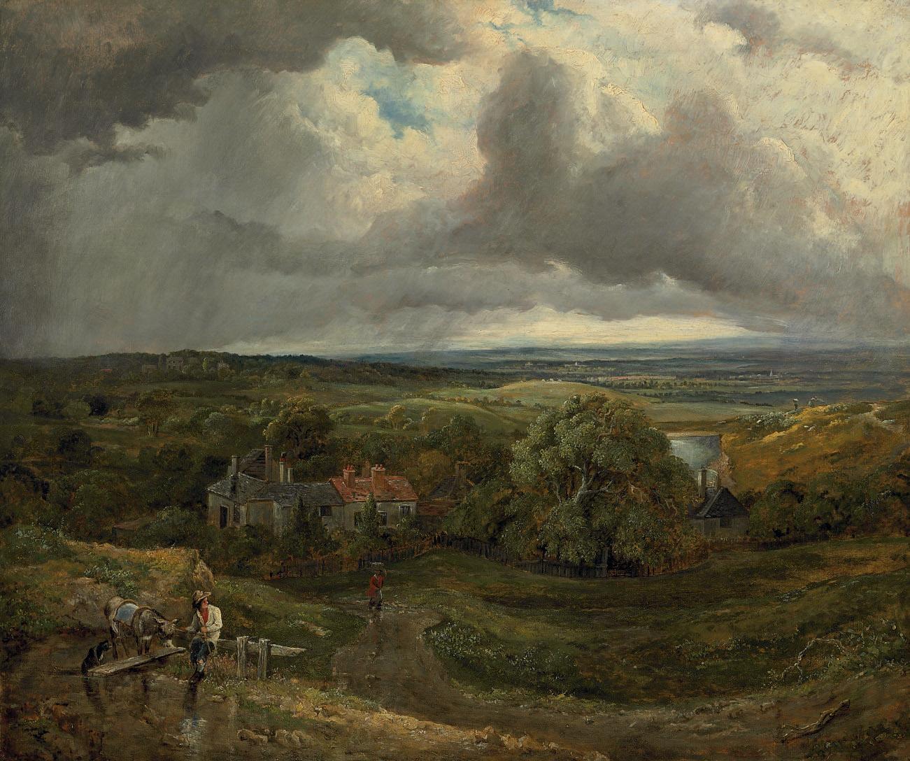 Figures in an extensive landscape