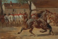 Trotting a horse