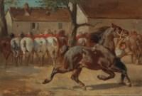 Trotting a horse